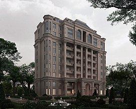 独栋欧式大楼整体模型