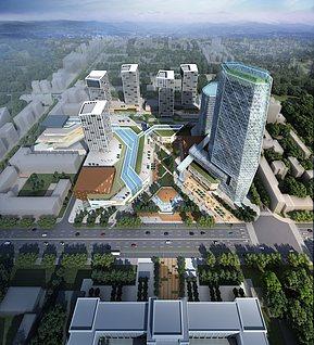 鳥瞰建筑3d模型