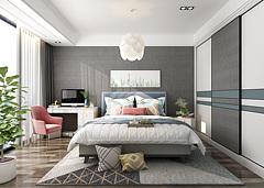 北欧卧室现代卧室3D模型