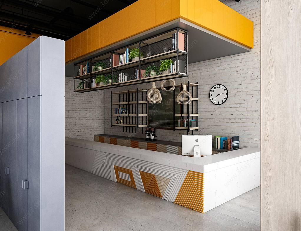 现代写实咖啡厅