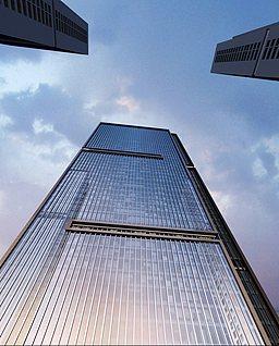 反光玻璃建筑3d模型