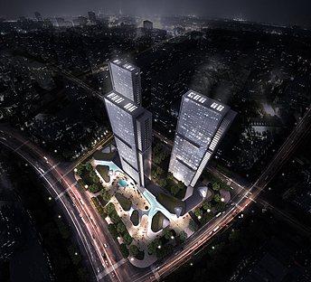 俯视鸟瞰城市
