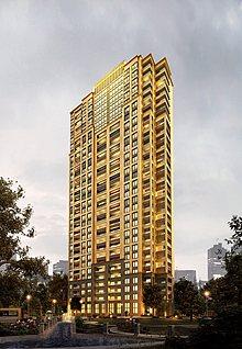 金黄色大楼3d模型