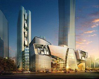 科技感商业大楼3d模型