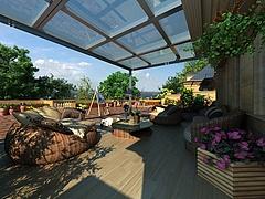 别墅阳台景观3D模型