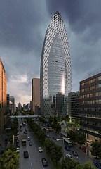 超写实城市建筑鸟瞰3D模型