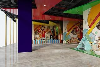 儿童商场入口3d模型