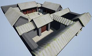 四合院工装模型