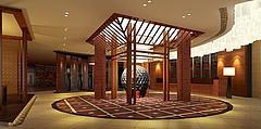 中式展厅3D模型