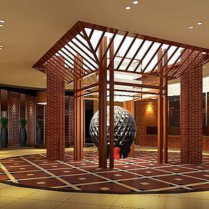 中式展厅整体模型