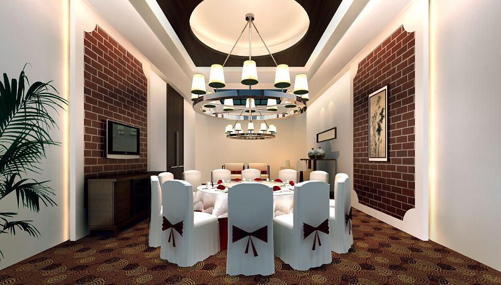 餐厅包厢模型