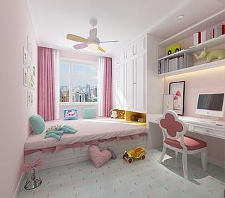 女孩房3d模型