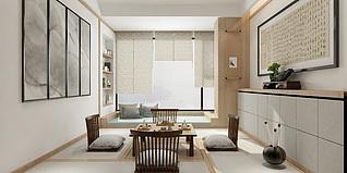 榻榻米茶室3d模型