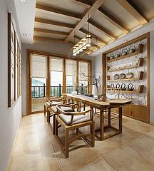 中式茶室3D模型