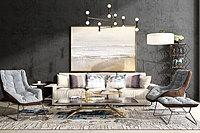 现代沙发茶几挂画组合3d模型