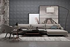 现代沙发茶几3D模型