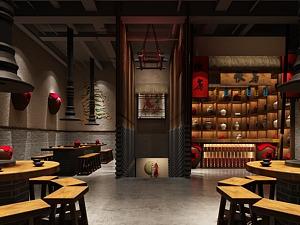 古典中式餐厅3d模型