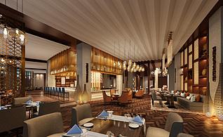 高级豪华餐厅3d模型