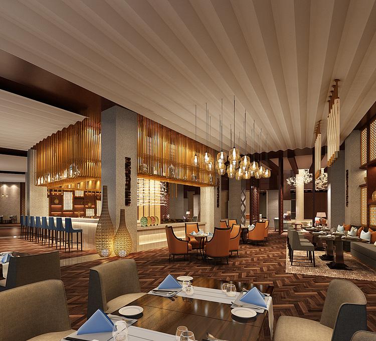 高级豪华餐厅模型