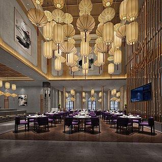 高端餐厅3d模型