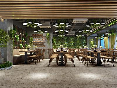 綠植餐廳整體模型