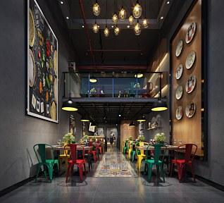 loft美食餐厅3d模型