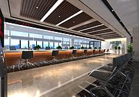 现代办公服务大厅3d模型