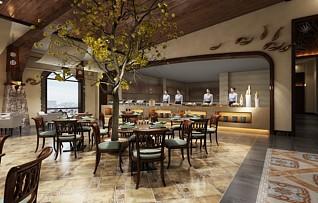 高档餐厅3d模型