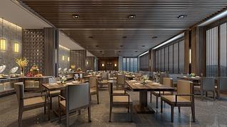 大厅餐厅3d模型