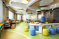 现代幼儿园学校体验室3d模型