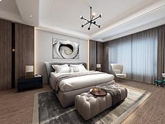 现代后现代轻奢卧头柜3D模型