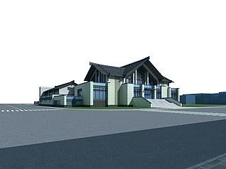 旅游集散中心3d模型