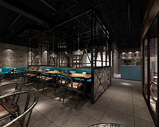 餐馆3d模型