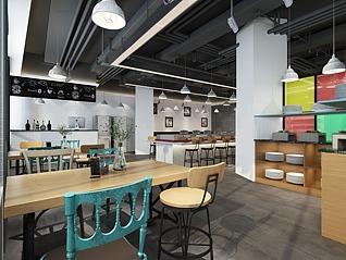 地中海复古餐厅3d模型
