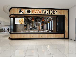 披萨西式餐厅3d模型