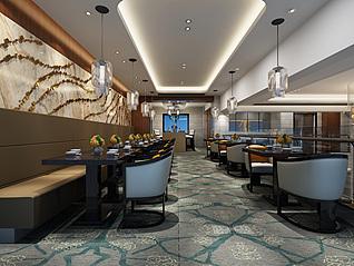 快餐厅3d模型