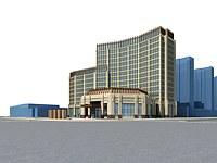 酒店大楼模型3d模型