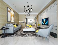 现代风格客厅3D模型