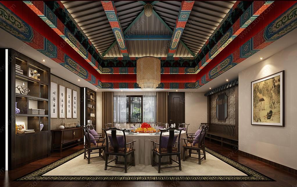 中式餐厅包房