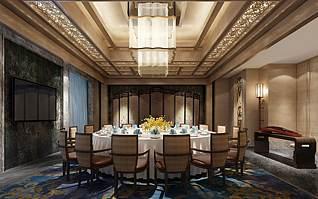 餐厅包厢3d模型