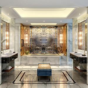 酒店洗手間整體模型