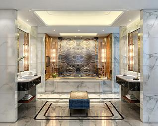 酒店洗手间3d模型