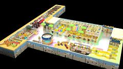 淡黄色主题乐园3D模型