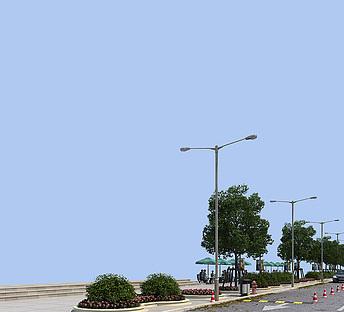 马路,路灯,路边装饰