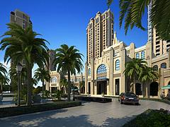 小高层,室外,建筑,小区3D模型