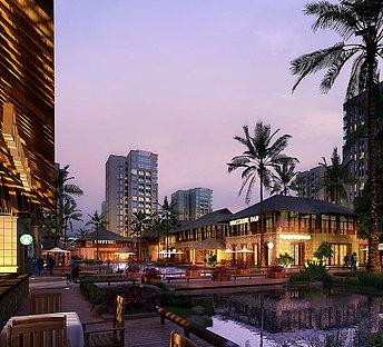 高层,室外,建筑,商业,广场