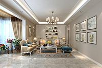 简欧客厅沙发茶几组合3d模型