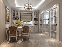 简欧餐厅厨房3d模型