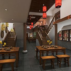中式面馆整体模型