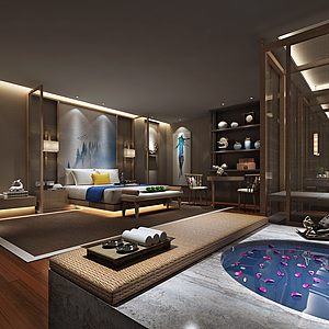 酒店客房整体模型